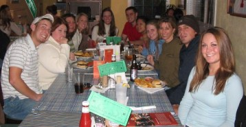 My MMC2100 class, circa fall 2003, at The Swamp. After class. Only people of age were allowed to order alcohol.
